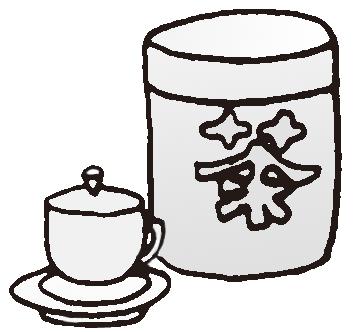 杯 杯子 简笔画 手绘 线稿 358_332