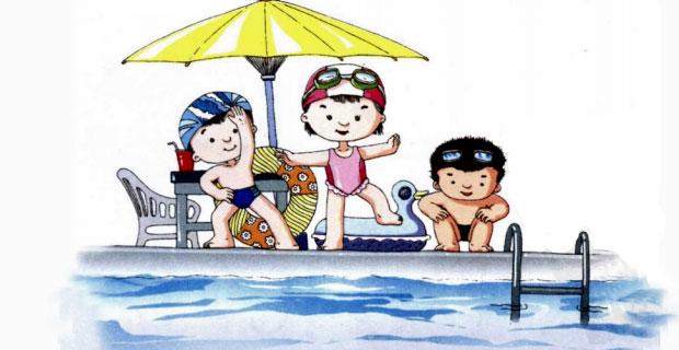 94m 【本作品下载内容为: 卡通可爱小学生儿童人物上课游泳矢量素材图片