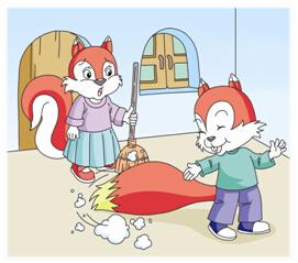 怎样让孩子体会松鼠尾巴的妙用图片